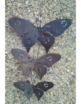 Série de 3 papillons Kelv en métal
