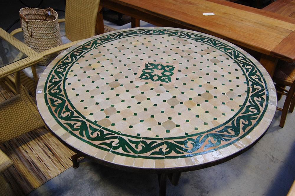 Table zellige / fer forgé Assa - Tables zellige et pied fer forgé ...