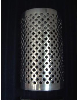 Applique murale en métal argenté