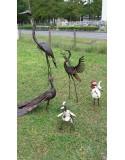 Animaux et oiseaux en métal